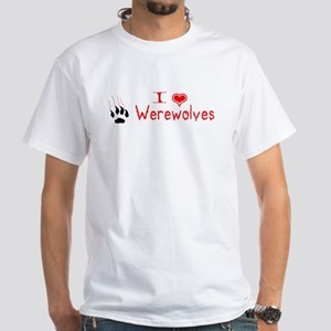 I [heart] Werewolves White T-Shirt